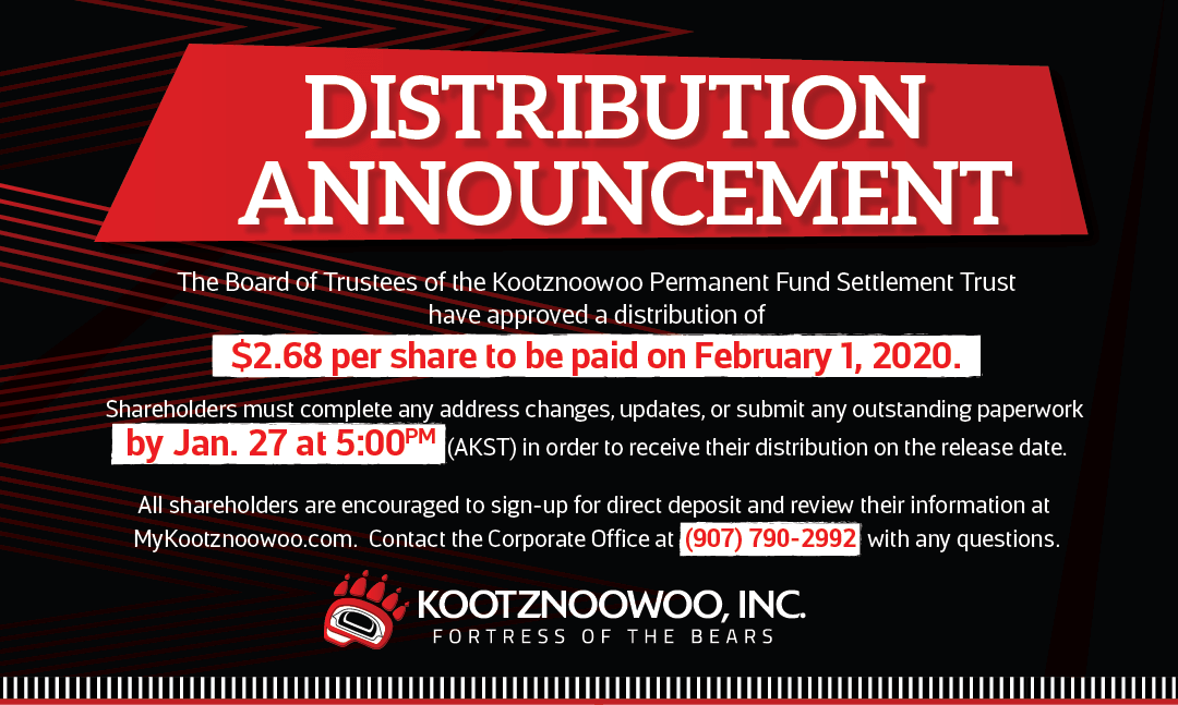 Distribution Announcement – February 1, 2020